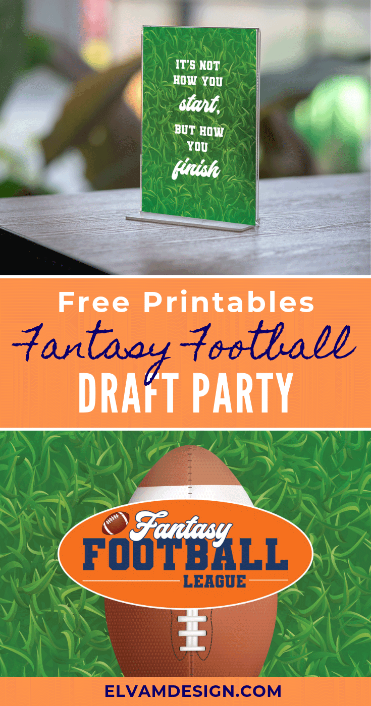 Free Fantasy Football League Draft Party Printables