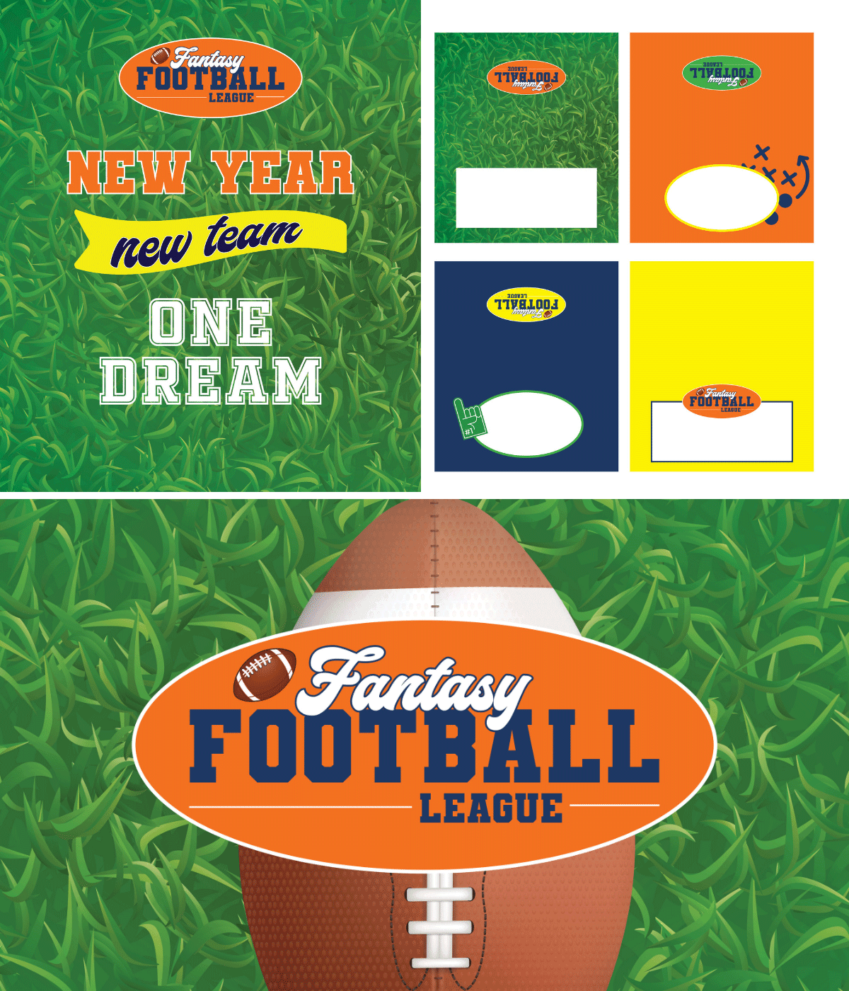 free set of fantasy football draft party printables