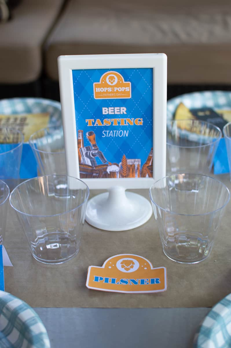 Beer Tasting Station Free Printable Sign