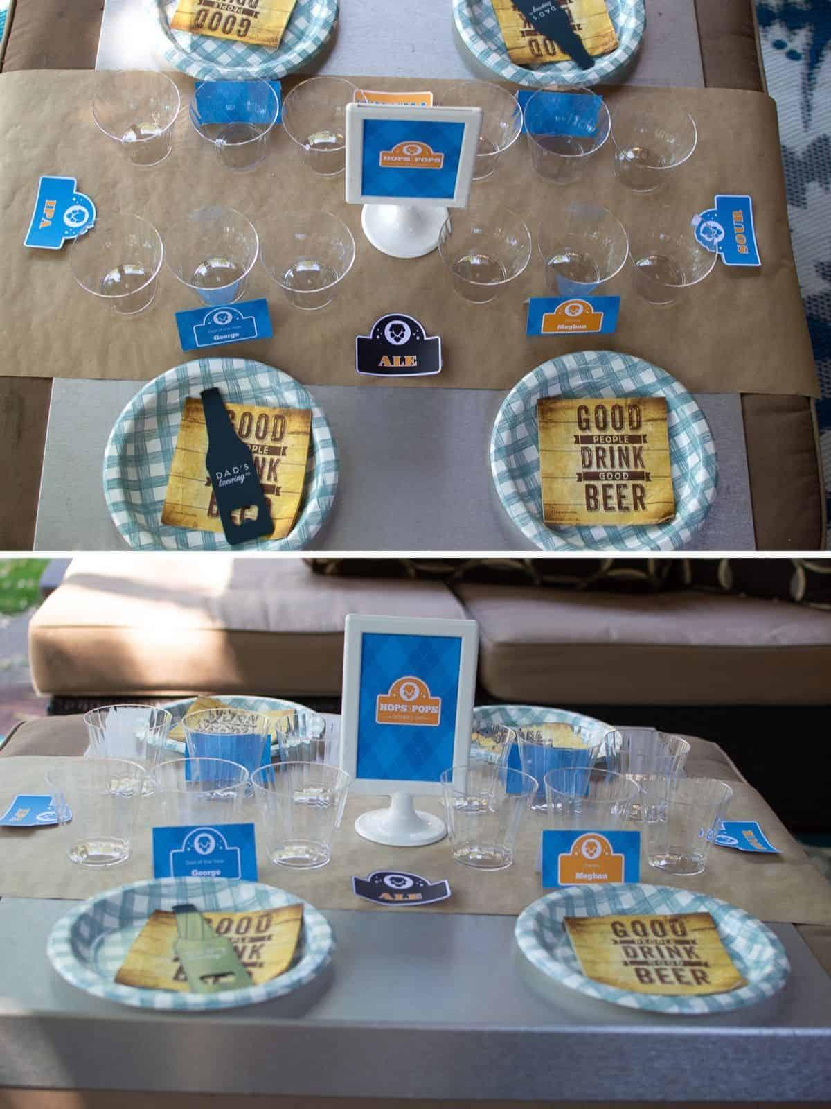 Beer Tasting table