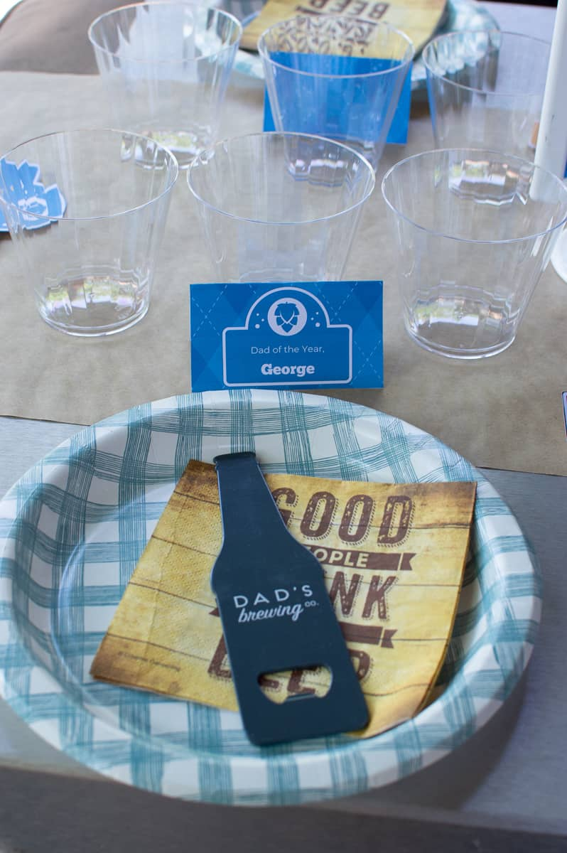 Father's Day Place Setting with Favor