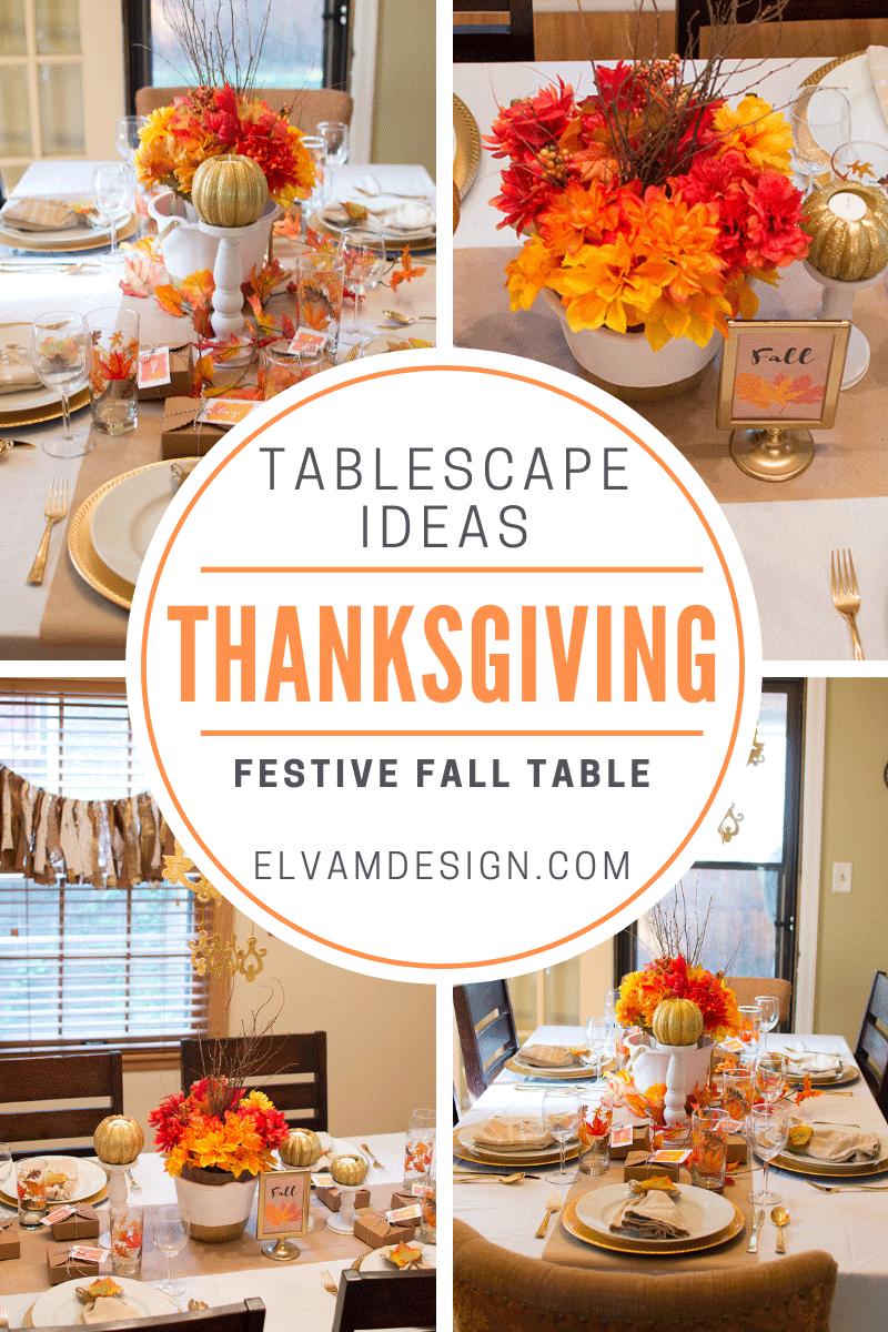 Festive Fall Tablescape Ideas