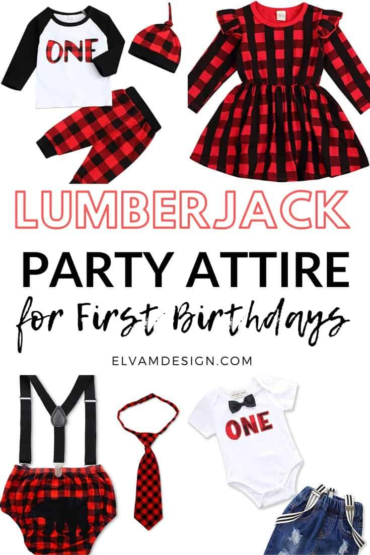 First Birthday Lumberjack Party Outfit