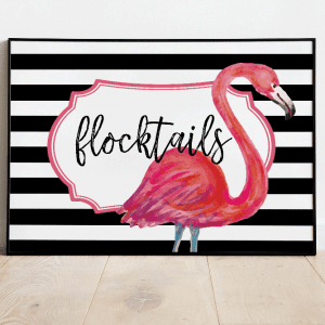 flocktails party backdrop