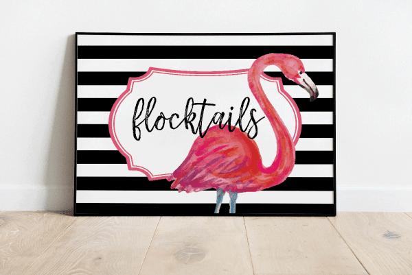 flocktails party backdrop