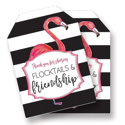 Flocktails and Friendship Favor Tags