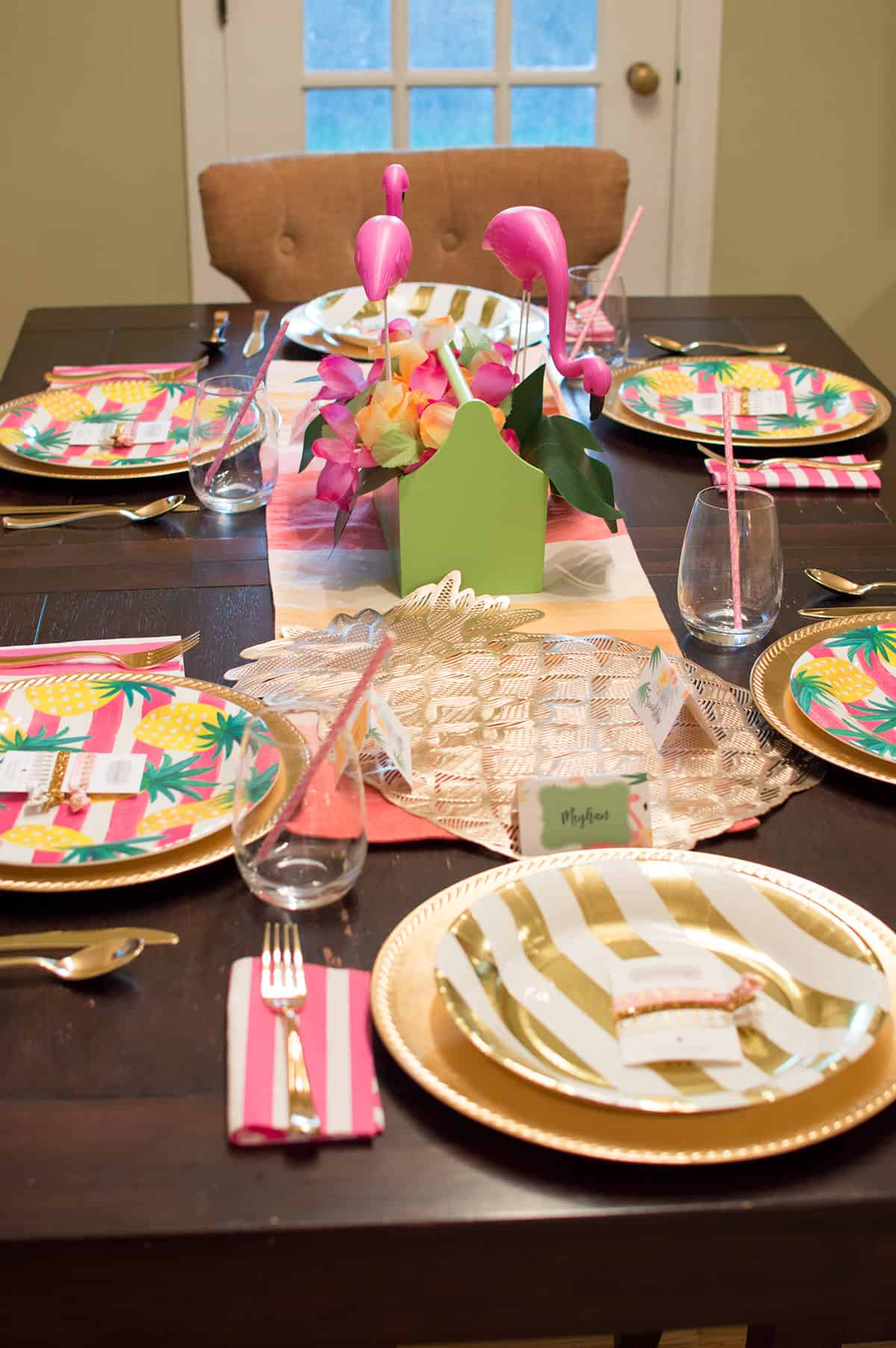 Flocktails and Friendship Tablescape by Elva M Design Studio