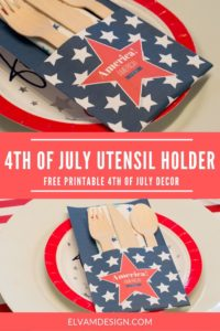 Free 4th of July Utensil Holder from Elva M Design Studio