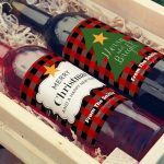 Download these free Christmas wine labels to personalize a holiday gift