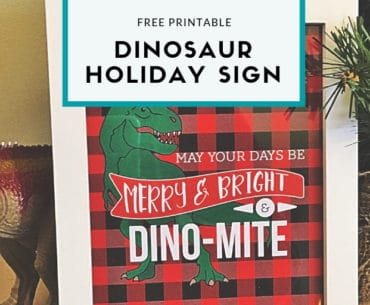 free dinosaur holiday sign