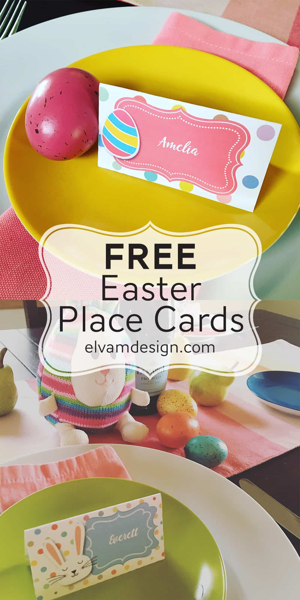 Free Easter Place Cards from Elvamdesign.com