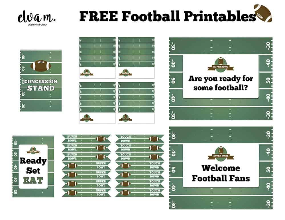 Free Football Printables from Elva M Design Studio