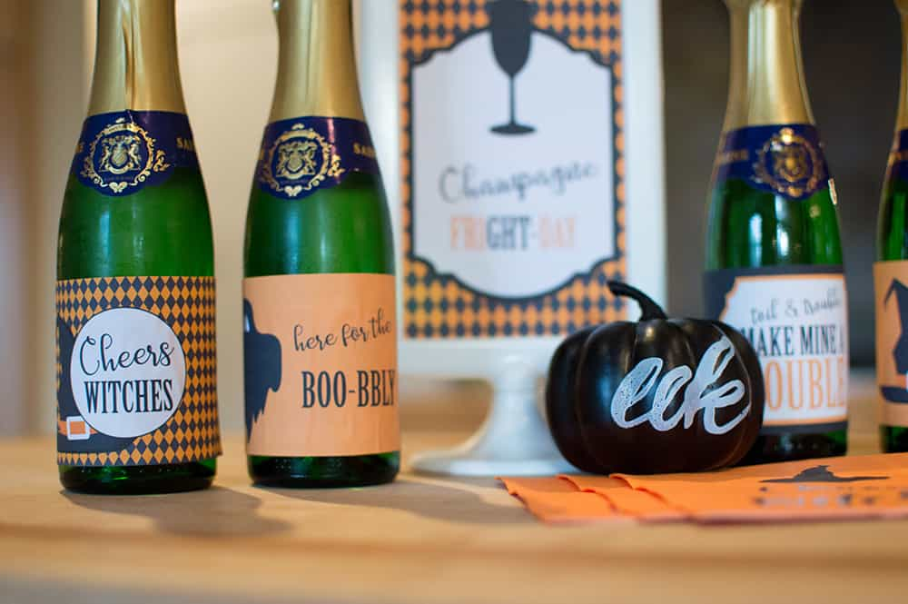 Boo-bly Halloween Champagne Label