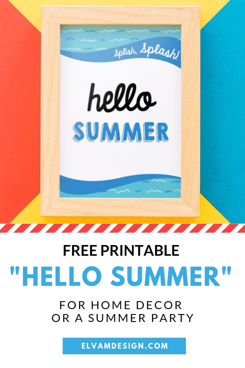 Free Hello Summer Printable