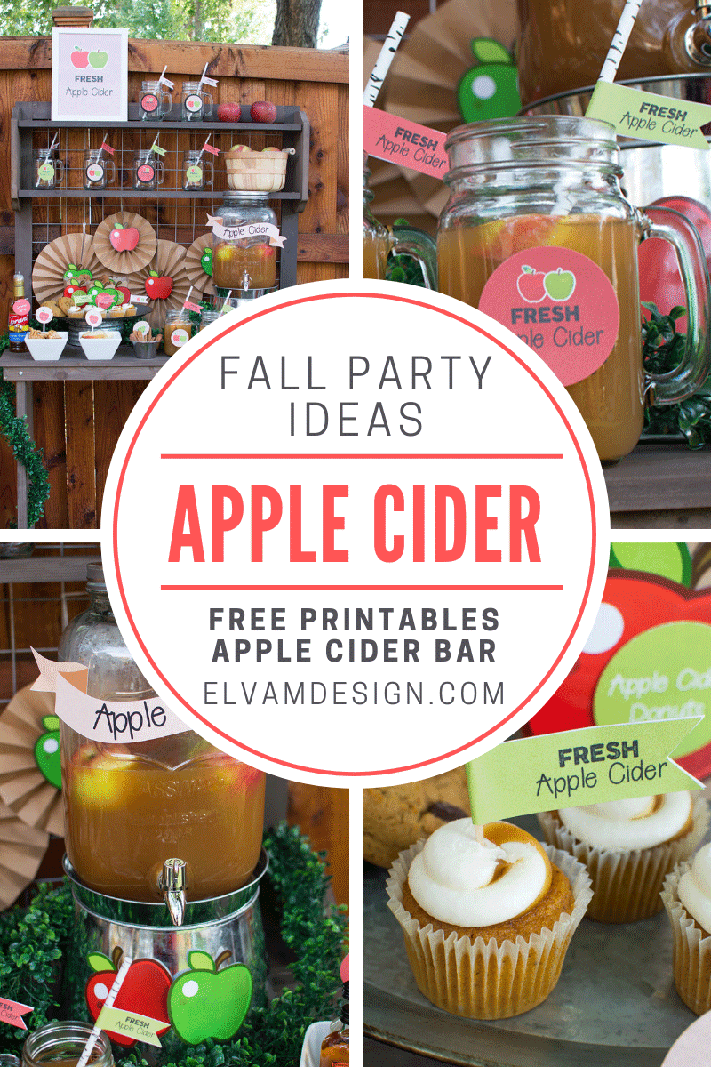 host an apple cider bar