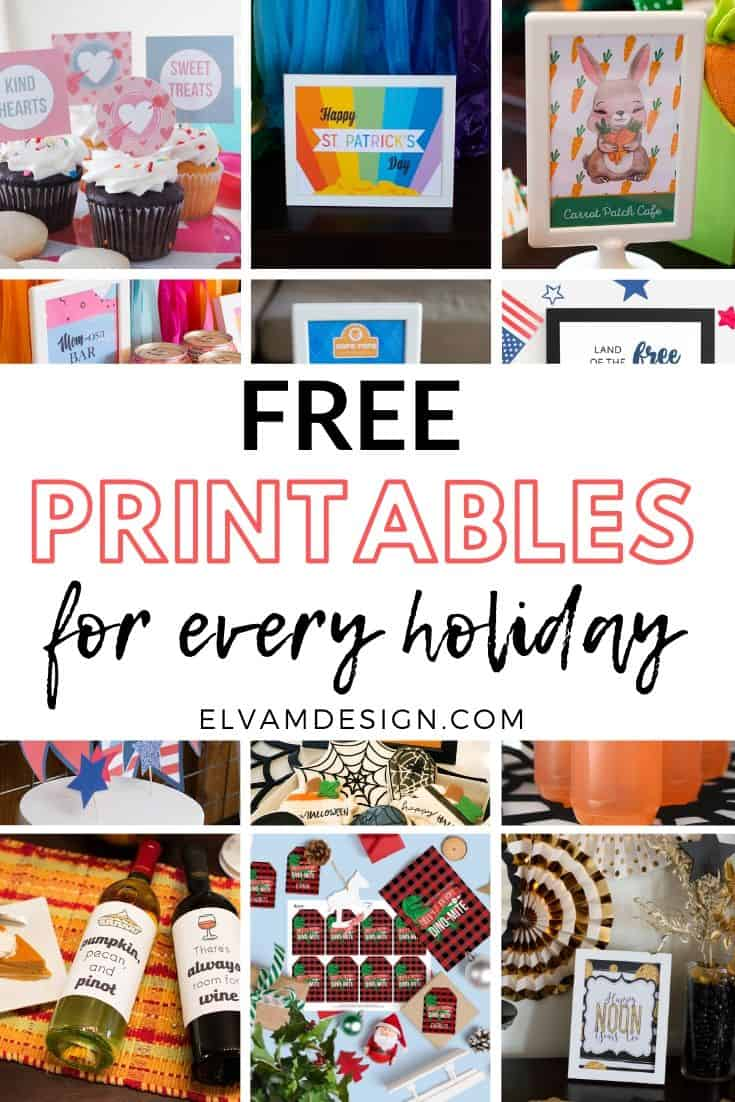 Free printables for every holiday