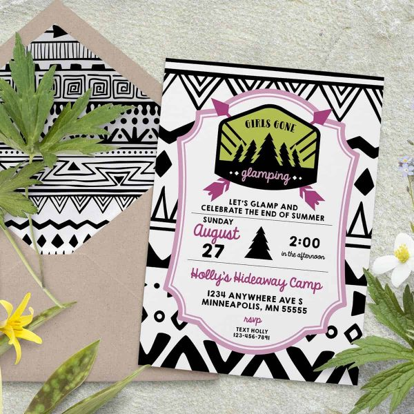 Glamping Party Invitation
