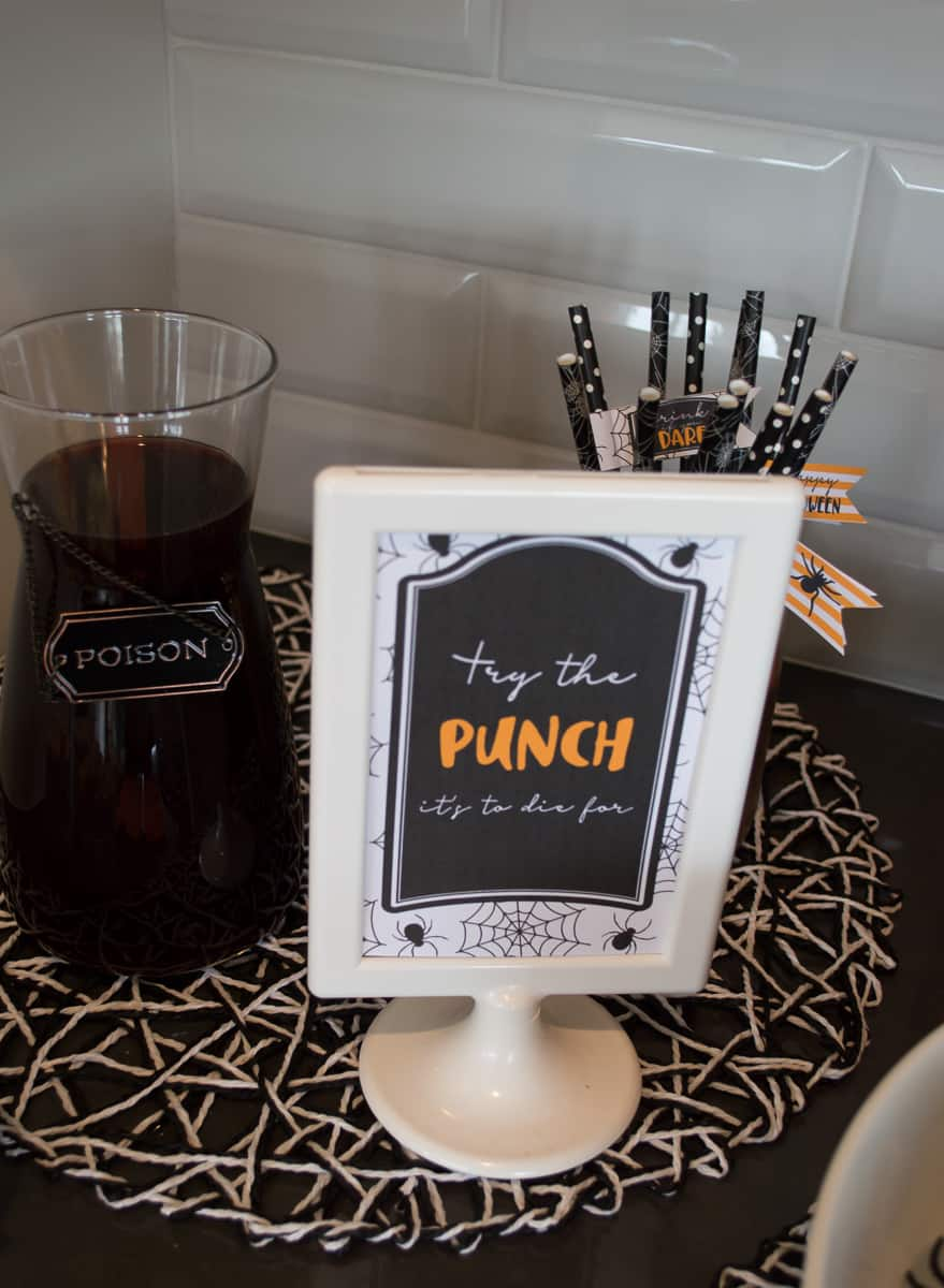 Halloween Punch Sign