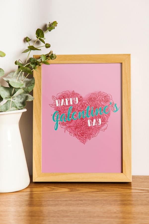 Galentine's Day Party Print from Elva M Design Studio