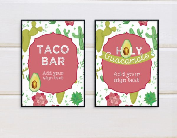 holy guacamole party sign