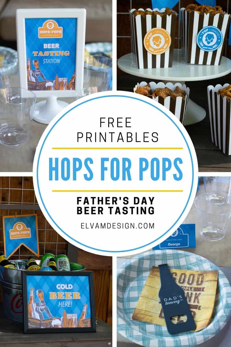 Hops for Pops Father's Day Party and Free Printables
