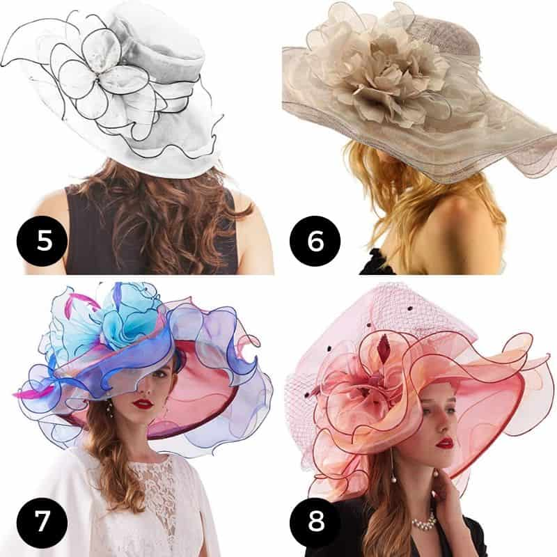 Organza and Tulle Kentucky Derby Hats