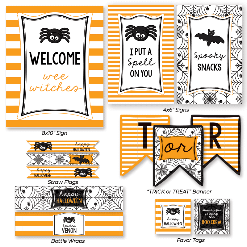 Kids Halloween Spider Party Printables