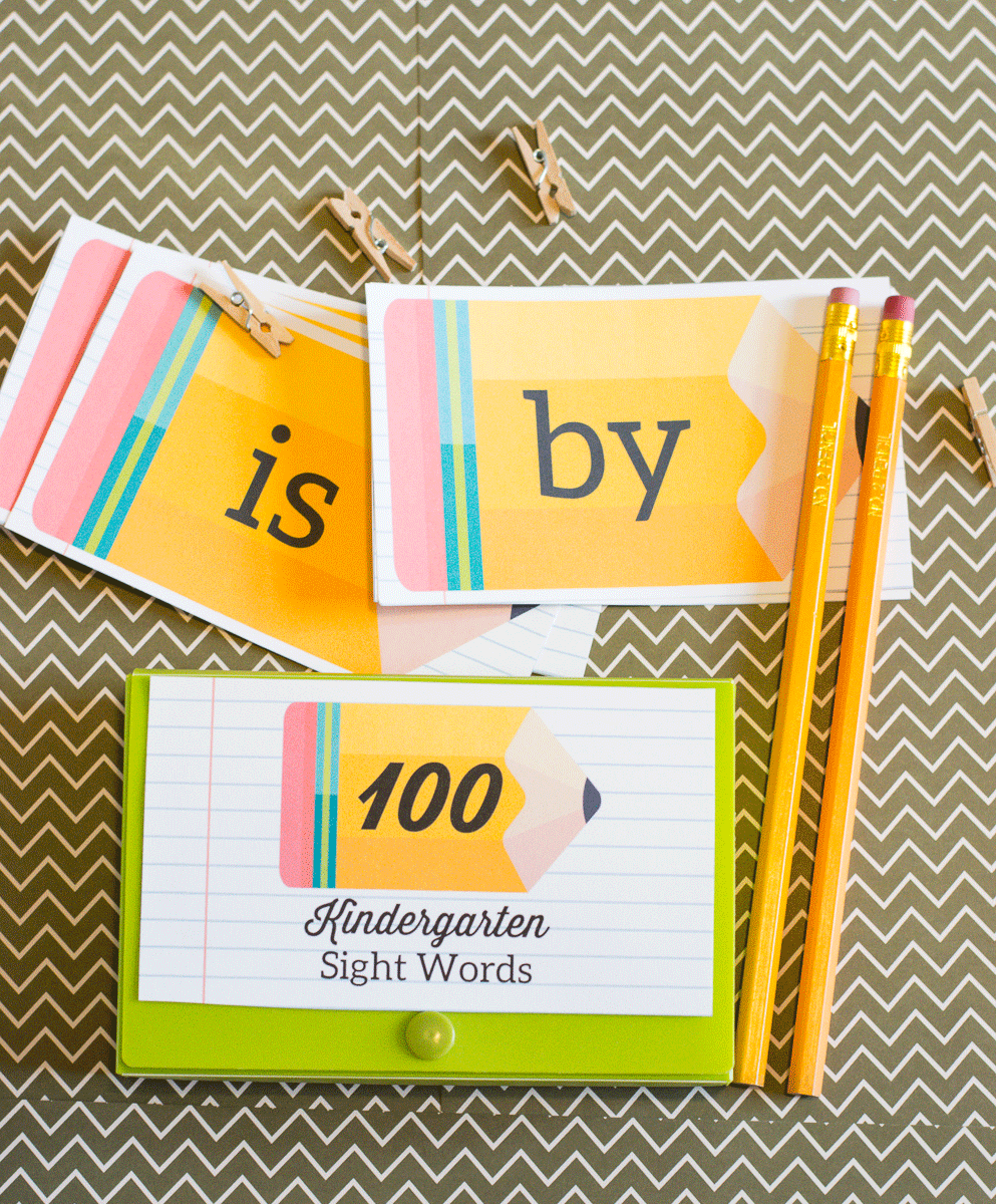 Printable set of Kindergarten Sight Words
