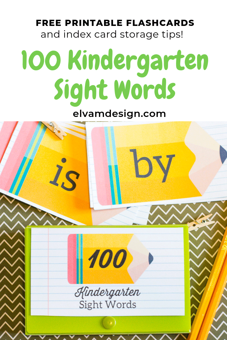 Free Sight Words Printable Index Cards