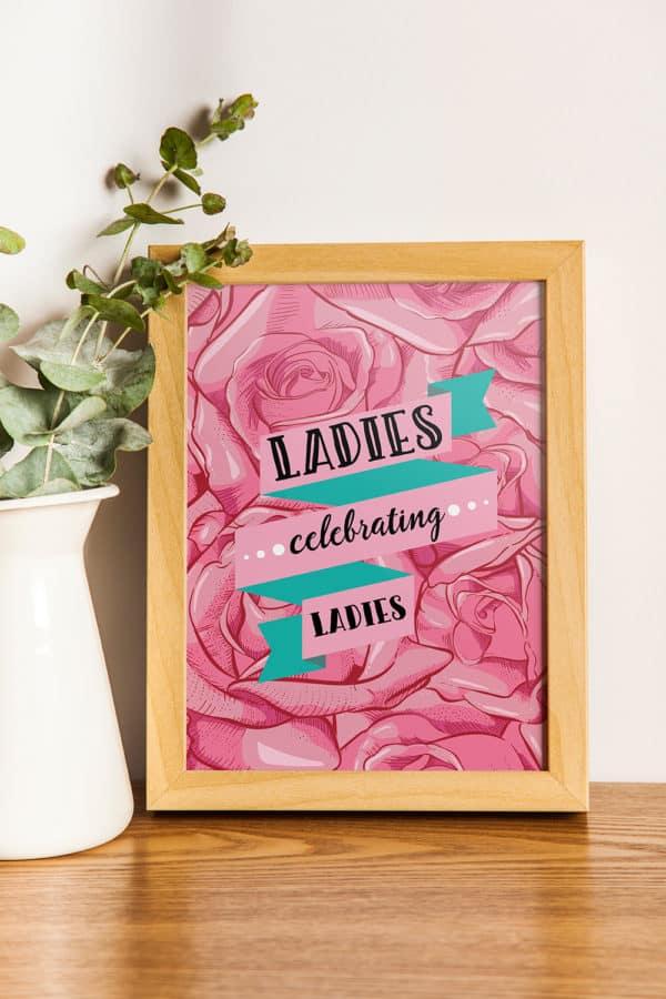 Ladies Celebrating Ladies Galentine's Day Party Print from Elva M Design Studio