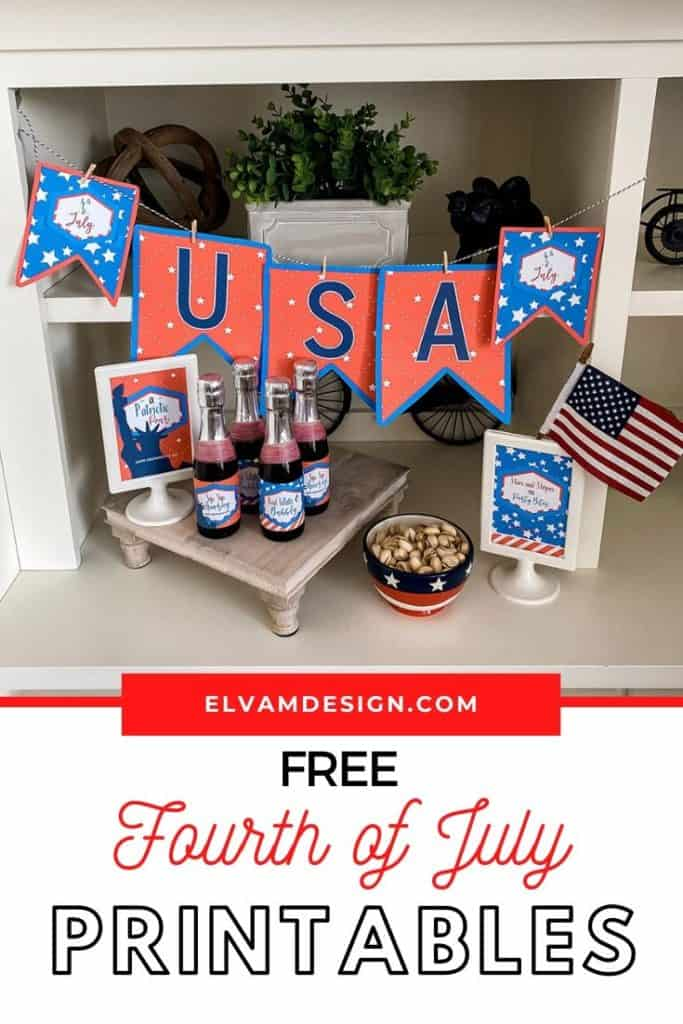 4th of July happy hour printables