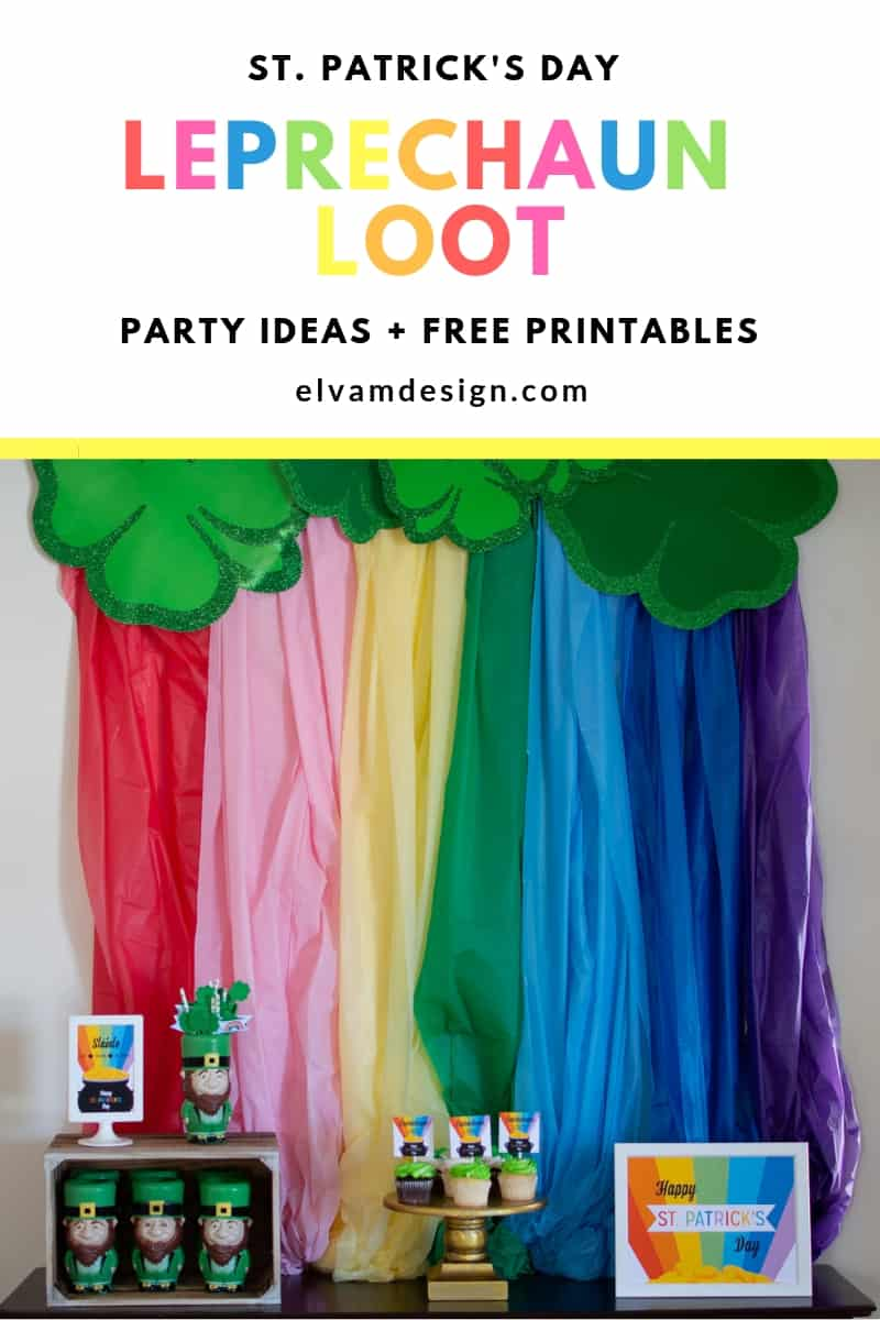 Throw a St. Patrick's Day party with these ideas and free printables from elvamdesign.com
