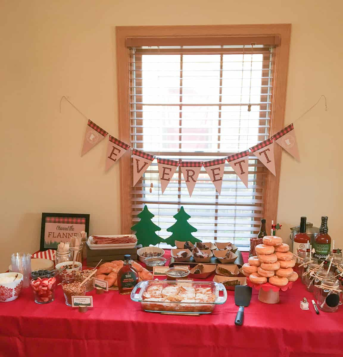 Lumberjack party brunch buffet