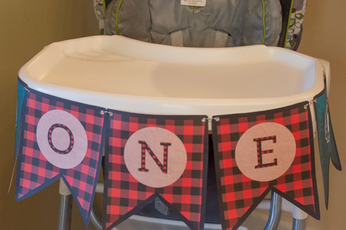 "Lumberjack ""One"" printable high chair banner from Elva M Design Studio"