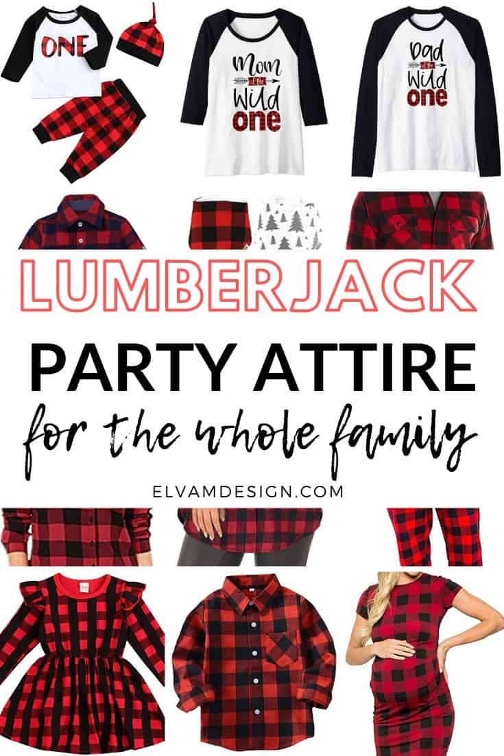 Lumberjack party attire for the whole family