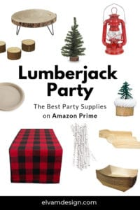 Find the best Lumberjack Party Supplies on Amazon Prime. Grab these party supply tips from elvamdesign.com.