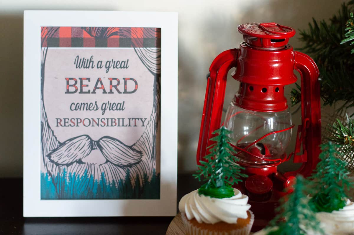 Lumberjack party printable sign from Elva M Design Studio
