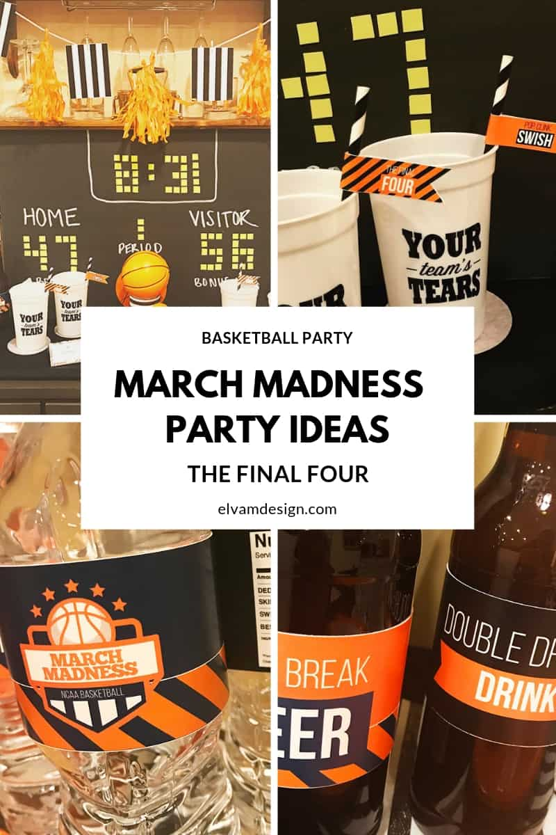 Throw a March Madness Party with Printables from Elva M Design Studio