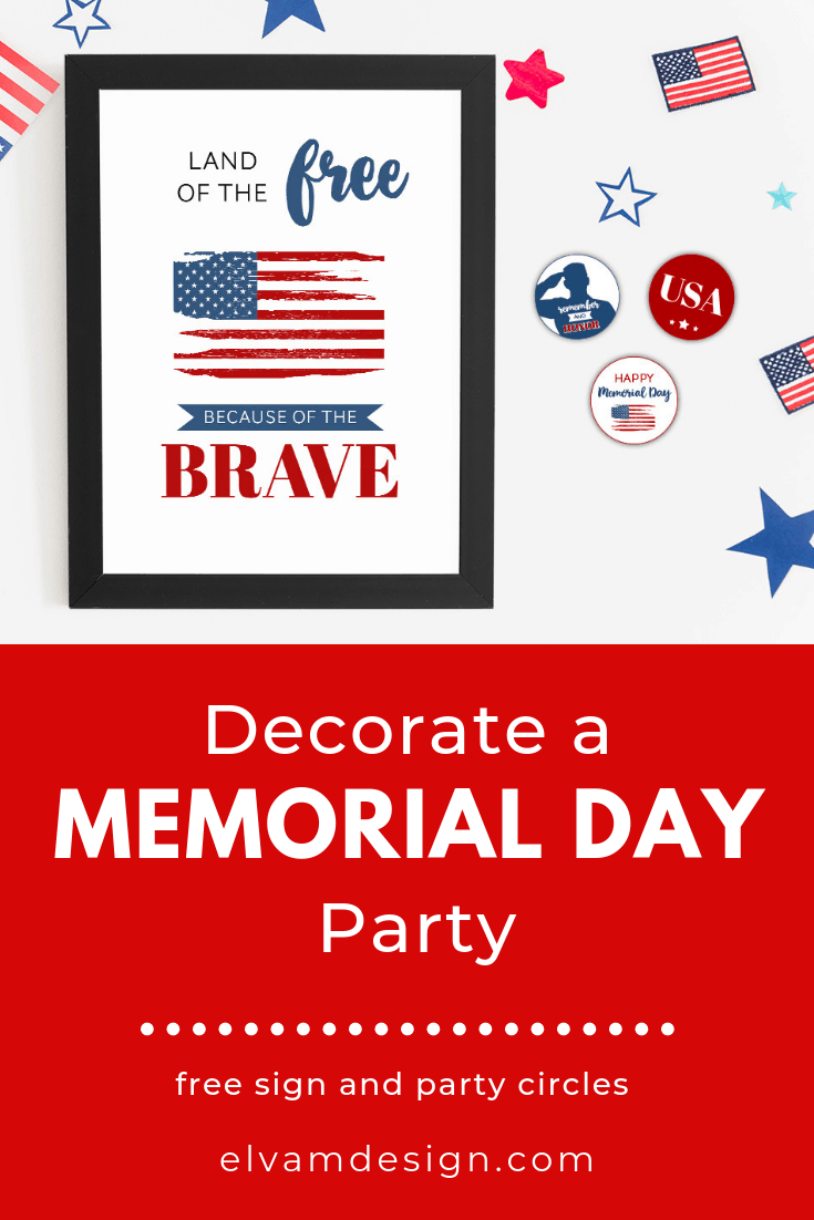 Free Memorial Day Printables: Sign and Cupcake Toppers