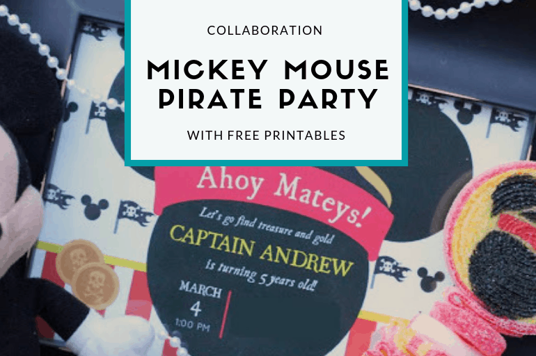 Free Mickey Mouse Pirate Party Printables from Elva M Design Studio