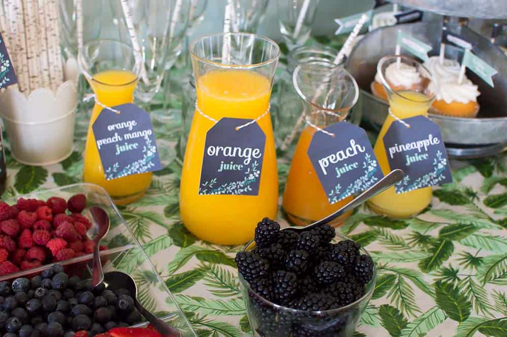 custom tags for mimosa bar juices