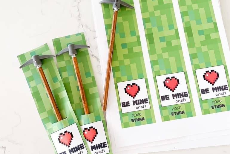 Minecraft classroom valentine