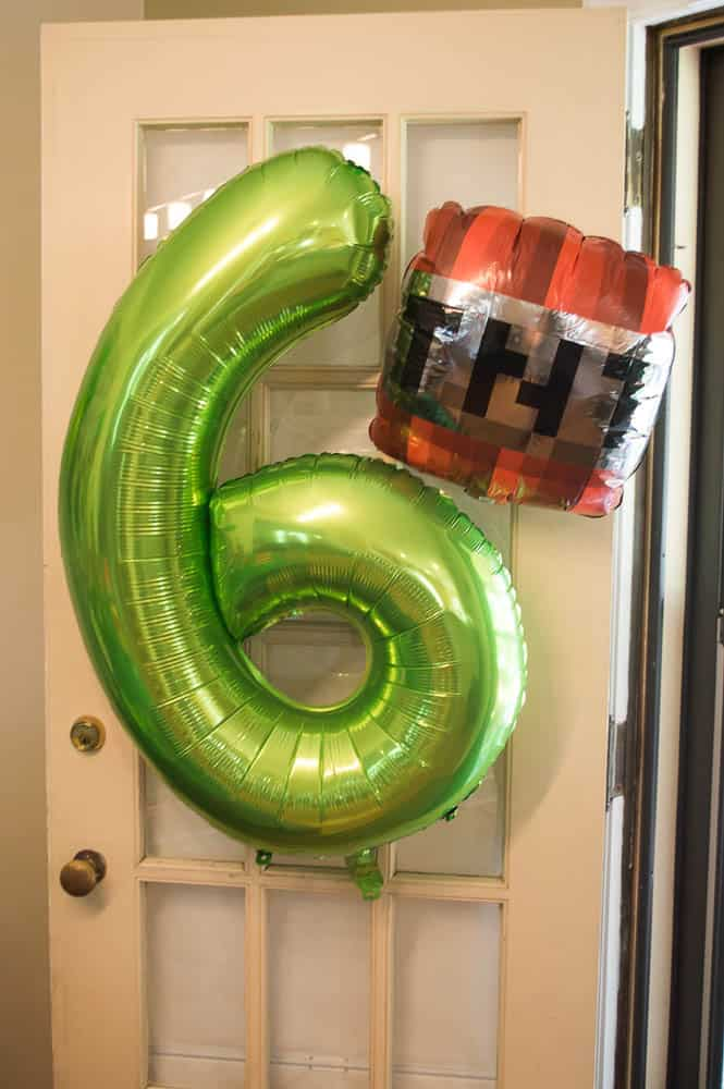 TNT Minecraft party balloon