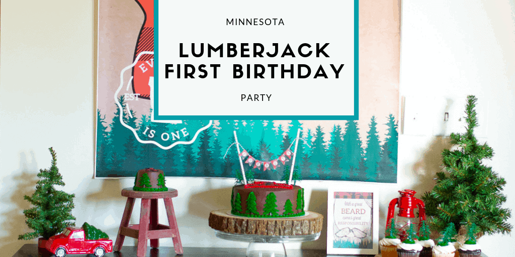 Minnesota Lumberjack First Birthday Party from Elva M Design