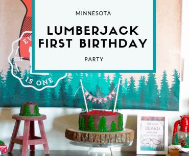 Minnesota Lumberjack First Birthday Party from Elva M Design