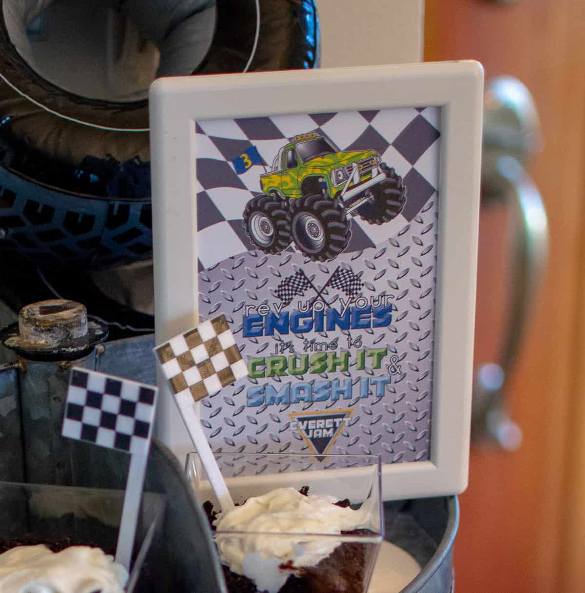 Rev up your engines party sign