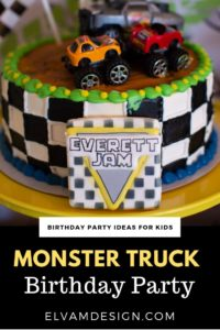 Stupendous Monster Truck Monster Jam Birthday Party Elva M Design Studio Funny Birthday Cards Online Elaedamsfinfo