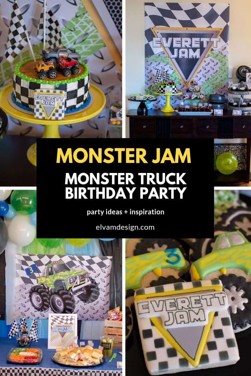 Monster Truck Monster Jam Birthday Party