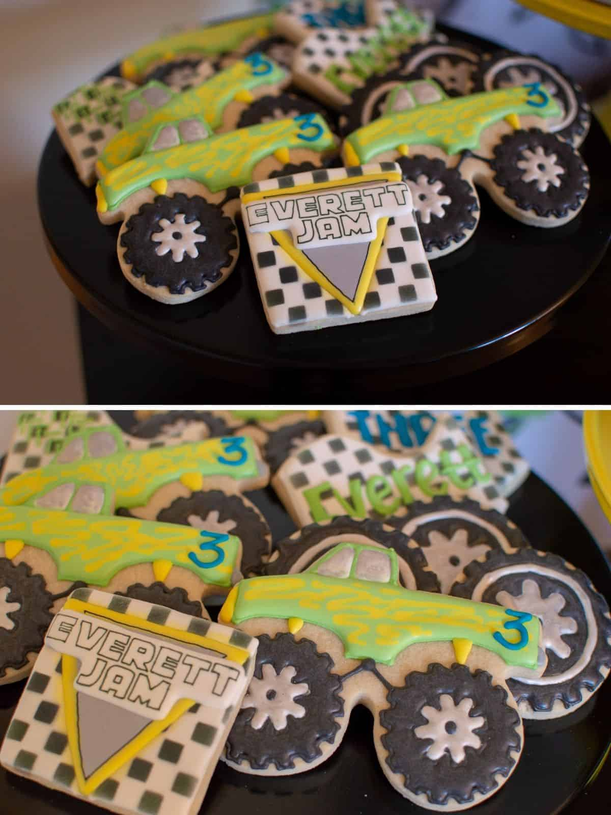 Custom Monster Truck Sugar Cookies
