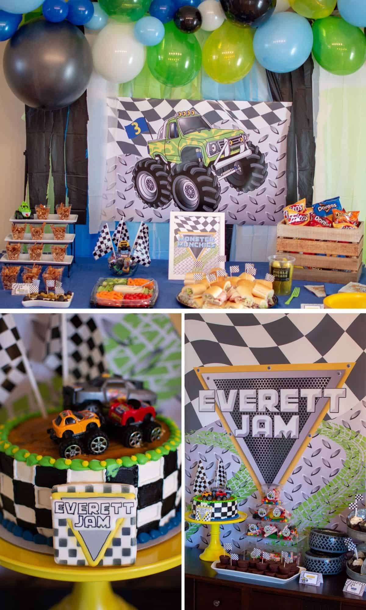 Monster Truck Birthday Party styled by Elva M Design Studio
